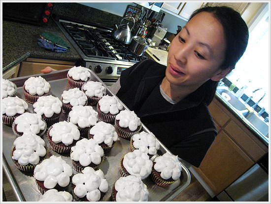 Anne and her cupcakes