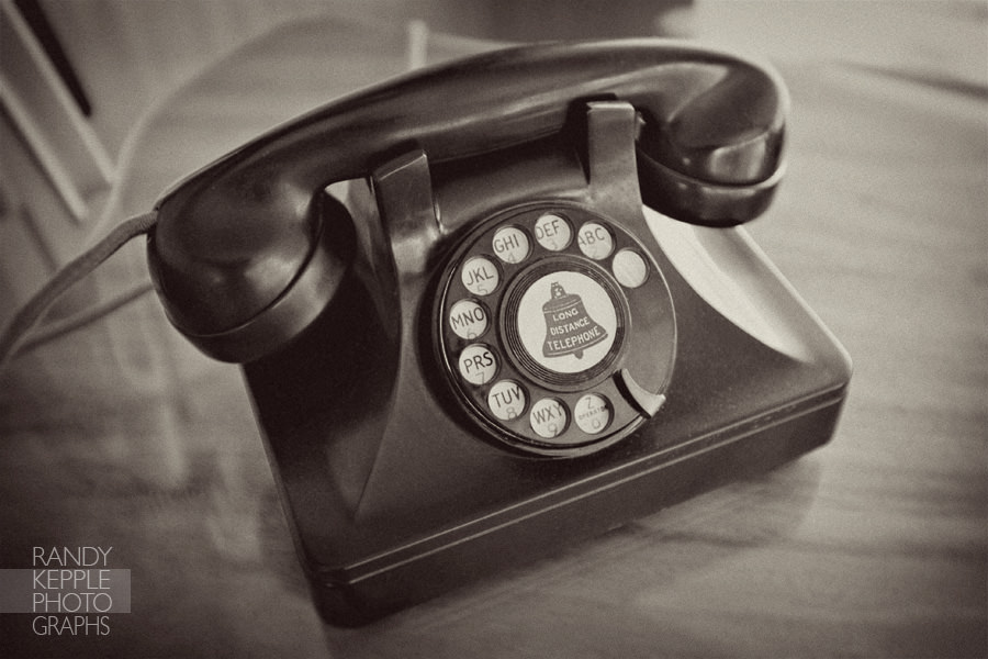 Vintage Telephone by Randy Kepple Photographs