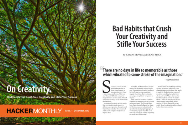 Bad Habits that Crush Your Creativity in Hacker Monthly