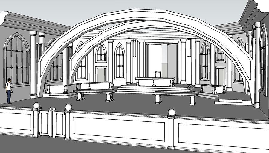 Virtual 3D Courtroom Illustration